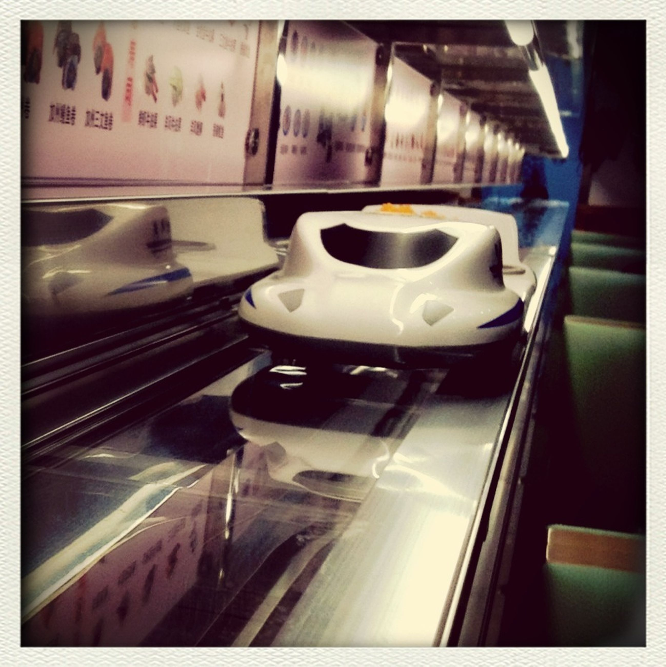 transportation, transfer print, auto post production filter, mode of transport, indoors, window, road, travel, on the move, land vehicle, journey, subway station, modern, metro train, no people