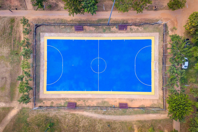 Top view aerial