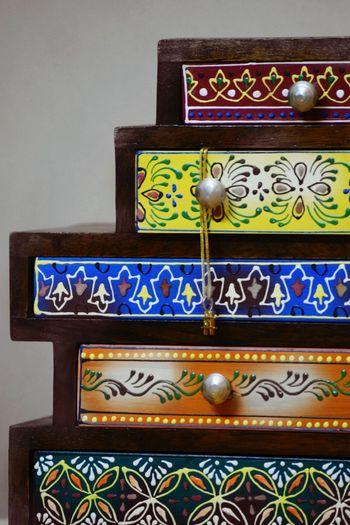 Jewelry Box Indoors  Close-up No People Handmade Beautifully Organized Handicraft Indianhandicraft Chestofdrawers Miniature Lieblingsteil