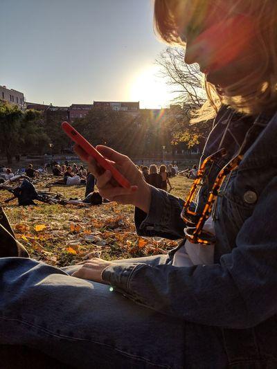 Human Hand Technology Wireless Technology Touch Screen Internet Sunset Men Communication Using Computer Digital Tablet
