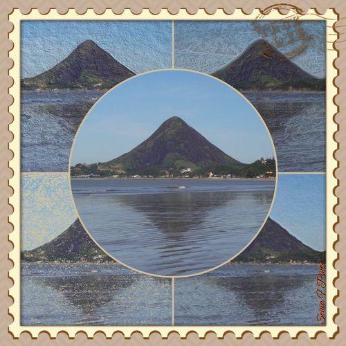 Monte Aghá visto da praia de Piúma. O Monte Aghá pertence ao município de Itapemirim, mas é do município de Piúma que se consegue esse lindo panorama.