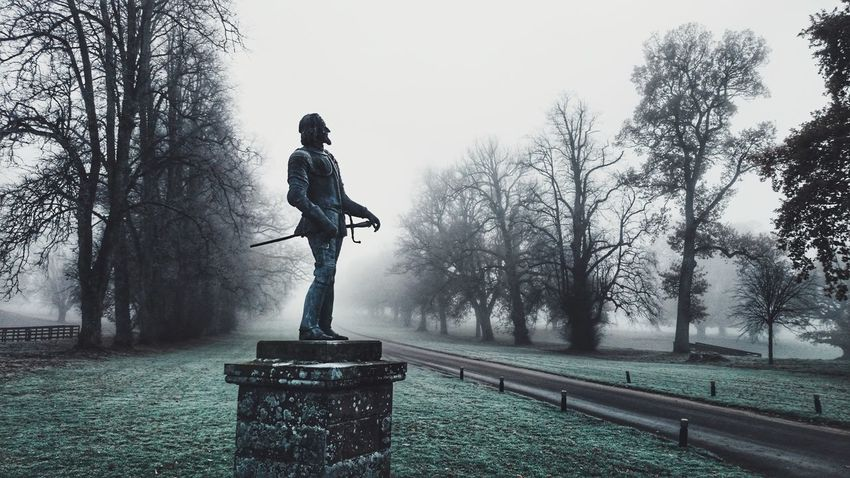 Glamis Castle Scotland November Statue Misty Morning Mist My Year My View Winter
