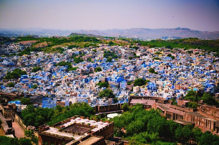 Rural Scene Nature Landscape Bluecity Jodhpur Houses View From Above Incredibleindia Rajasthandiaries Padharo_mahare_desh Brampuri Stories From The City