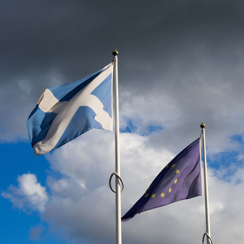 """Brexit Blue Skies"" Boris Johnson Nicola Sturgeon Scotland Brexit Cloud - Sky Day Eu Europe Flag Nigel Farage No People Outdoors Politics And Government Referendum Scottish Independence Sky Snp Trouble Brewing"