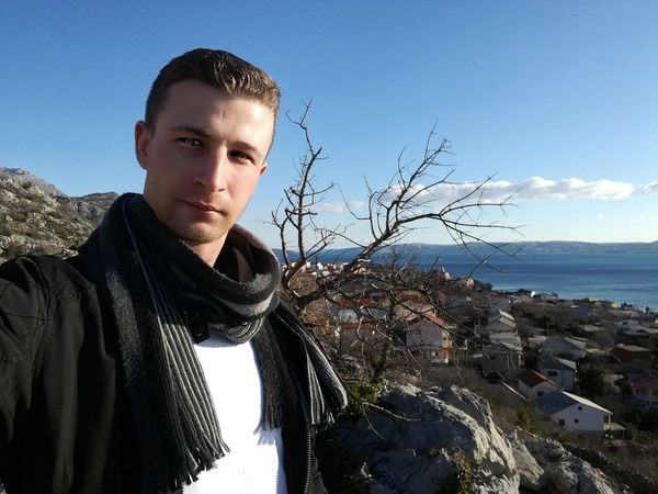 me Croatia Karlobag Portrait One Person Sea People Looking At Camera Adult Sky Headshot Young Adult Outdoors One Man Only Men Nature Day Adults Only Winter Only Men Water Close-up