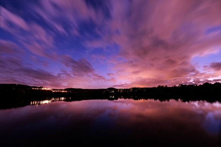Reflection Nature Sunset Sky Water Night Beauty In Nature Tranquility Lake Awe Scenics No People Outdoors Reflection Lake Horizontal Mountain Astronomy