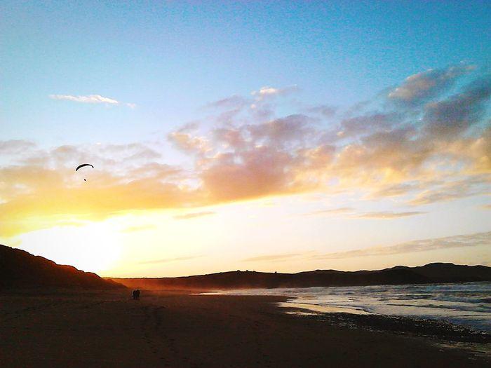 Sunset Clouds And Sky Beach Clouds Fall Parachute Galicia Galifornia Galicia Calidade Traveling Ponzos Sea Sea And Sky Atlantic Evening RedSky