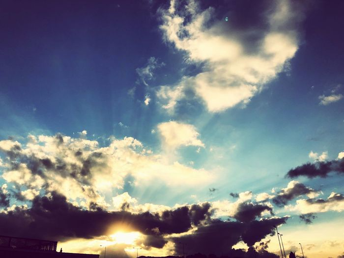 The limitless sky and setting sun which brings this hope that it will rise again!!! Sky Cloud - Sky Tranquility Tranquil Scene Scenics - Nature Nature Backgrounds Outdoors Low Angle View