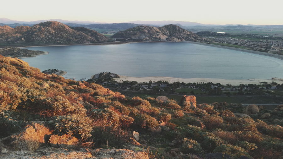 Lake Lake Perris Perris Hiking View Mountain Top Sun Down Colour Of Life🐟🌄