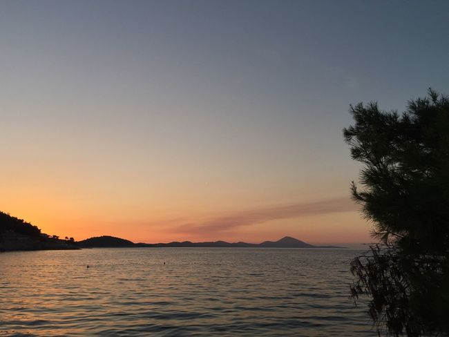 Rovenska, Veli Losinj, Croatia, Aug, 2017. #nofilter No Filter Rovenska Croatia Sunset Veli Lošinj Sea Tranquil Scene Scenics Nature Beauty In Nature Tranquility Outdoors