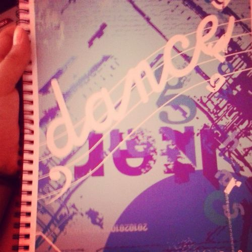 Cuaderno Bello I ♥ Dance DANCE ♥ Beutyfulsmile Happy (: