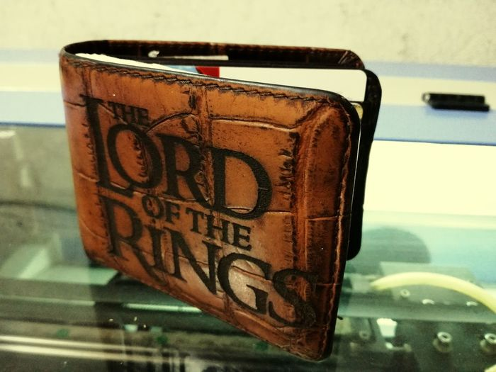 Lordoftherings LOTR Hobbit Tolkien Tolkienfanatic Tolkien Trail Engraving Engraving Art Leather Wallet