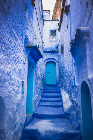 Blue Architecture Built Structure Door History Corridor Blue Indoors  No People The Way Forward Day Building Exterior Morocco Chefchaouen Outdoors Streetphotography