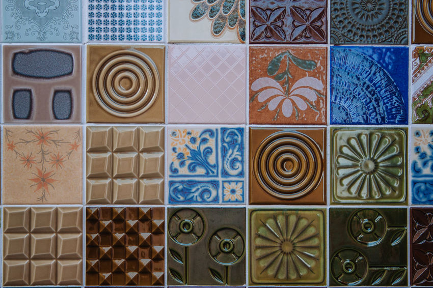 Kacheln Backgrounds Choice Close-up Day Design Indoors  Kachel Multi Colored Neat No People Pattern Tile Variation