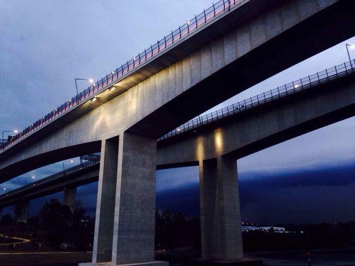 Photography Bridge Twilight Storm