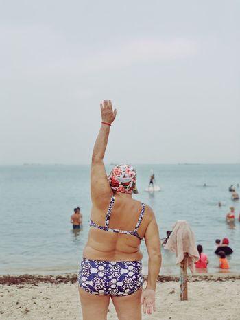 💪🏻 מייספורט מייאייפון10 ShotOnIphone IPhoneX מייבתגלים מייים Sea Water Beach Horizon Over Water Horizon Sky Leisure Activity Women Holiday Vacations This Is My Skin