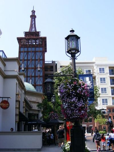 Architecture Built Structure City Tree Building Exterior Tower Travel Destinations Flower Outdoors Sky No People Clock Tower Day Nature Clock California Glendale The Americana Cityscapes Canonphotography Multi Colored Shopping Mall Glendale California 2009