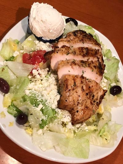 Greek salad with chicken Food And Drink Food Freshness Ready-to-eat Serving Size Still Life Indoors
