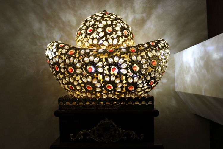 Night Lights Art And Craft Boatshapedcompound Close-up Design Gold Colored Indoors  Night No People