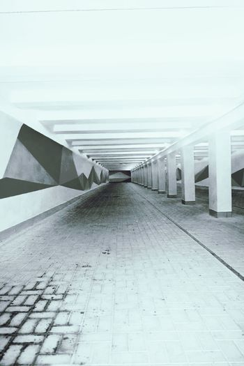 Monochrome Urban Underpass Taking Photos Tunnel