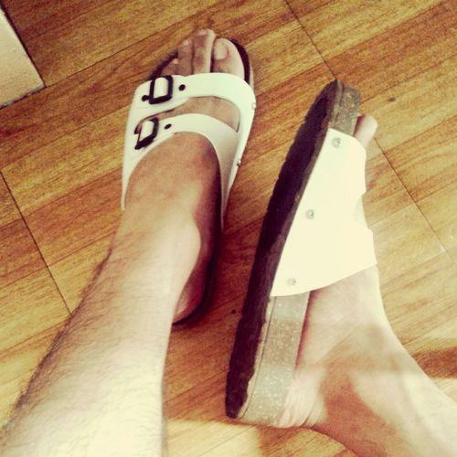 Got my new berkinstock sandals :D Footwear Berkinstock Photography White Free Open Edit Summer ☀ Sandals <3  Sandalselfie