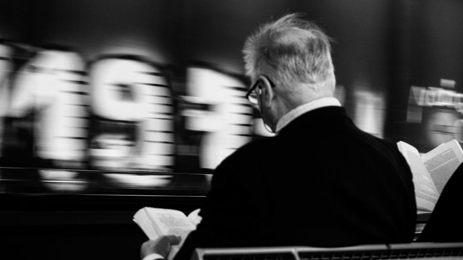 Blackandwhite Bnw Bnw_legit Streetphotography Blackart Street Blurred Motion Men Adult Motion Rear View One Person Business Transportation Suit Real People Waiting The Street Photographer - 2018 EyeEm Awards