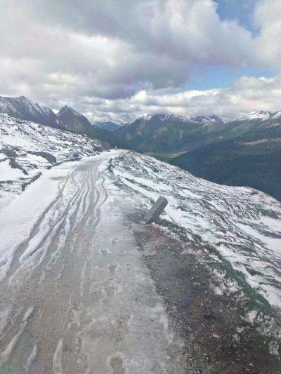 Nature Snow Mountains Biking Shades Of Winter