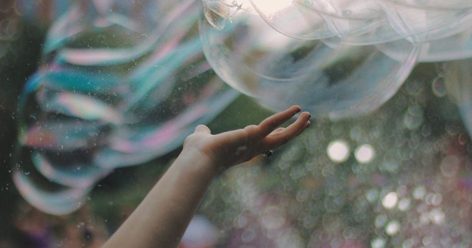 reach One Person Human Hand Real People Transparent Hand Glass - Material Water Bubble Human Body Part Nature Animals In The Wild Leisure Activity Swimming Animal Wildlife Animals In Captivity Vertebrate Outdoors Marine Bubbles