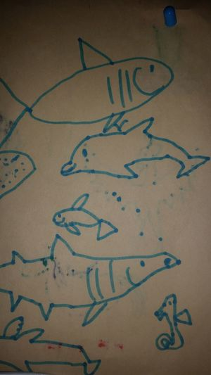 Thelilian claims that dolphin is the best she has ever drawn. she might be right. Artbylilian Sea Creatures