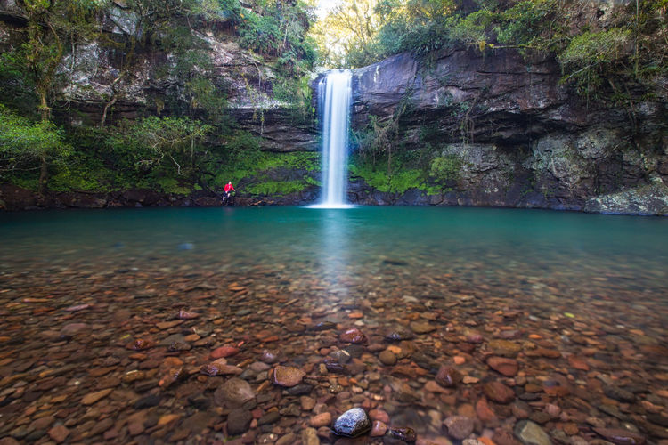 """Cascata do garapiá"", Brazil Water Reflections Beauty In Nature Blue Water Day Garapiá Long Exposure Nature People In The Nature Rio Grande Do Sul  Rock Water Waterfall Waterfalls"