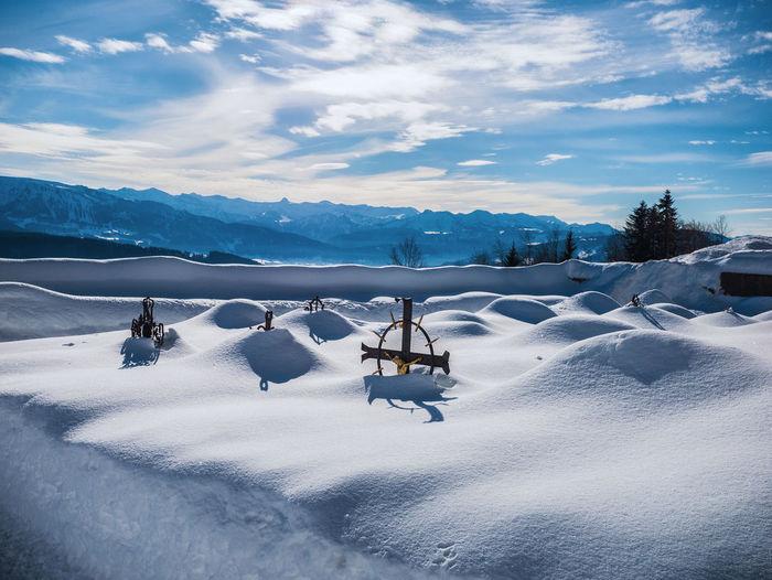 Cemeter  at  wintertime  in austria