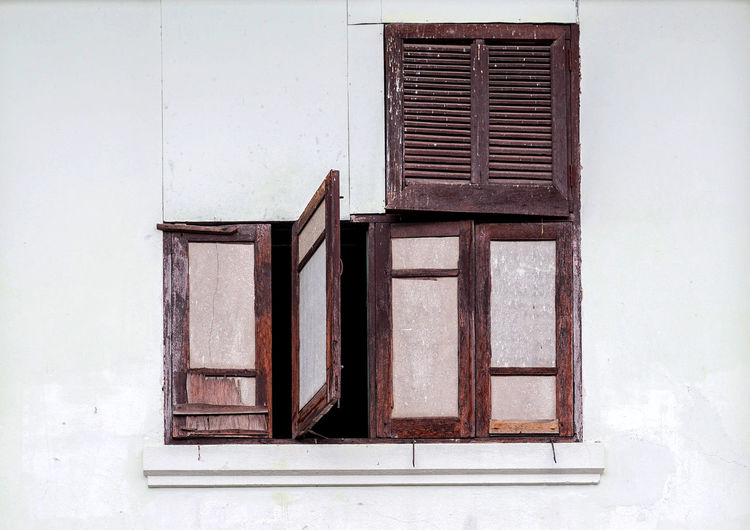 Close-Up Of Window On Building
