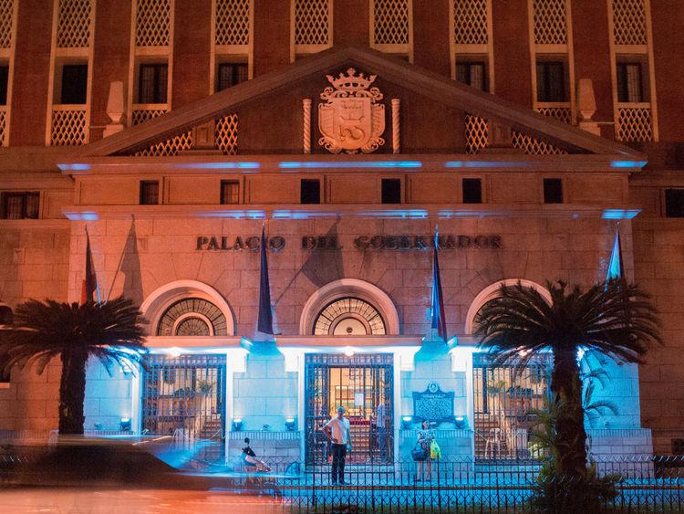 Lit gov Illuminated Architecture Night Building Exterior Politics And Government Plaza De Roma Intramuros Manila Eyeem Philippines EyeEmNewHere Olympus Olympus E-P3 The Architect - 2017 EyeEm Awards