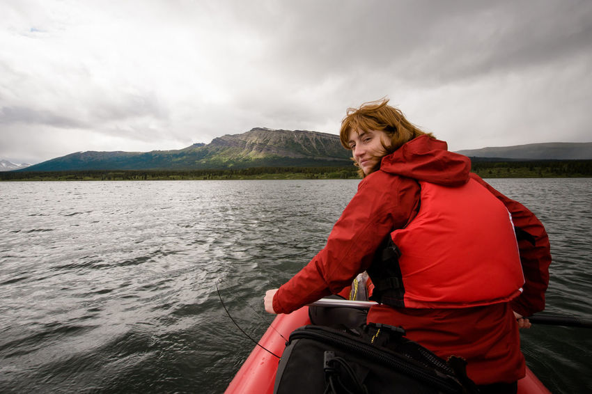 Adventure British Columbia Canada Canoe Lake Nature One Person Outdoors Paddling Raft Real People River Spatsizi Plateau Wilderness Park Stikine River Tuaton Lake Wilderness Woman