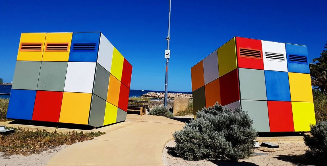 Rubik's cube lavatories, Geraldton Sand Beach Multi Colored Outdoors Sky Architecture Check This Out Western Australia Nature Of Eyeem Mobilephotography The Week On EyeEm Fresh On Eyeem  Showcase December EyeEm Of The Week Hello World Australia 🇦🇺 Travel Destinations No People My Point Of View Lavatory Rubik Cube Uniqueness Geraldton The Graphic City The Architect - 2018 EyeEm Awards