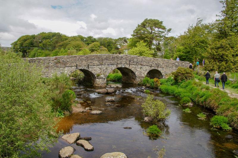 Clapper Bridge on Dartmoor National Park Bridge Water Stream Nature Architecture Built Structure Bridge - Man Made Structure The Past Travel Outdoors Arch Bridge