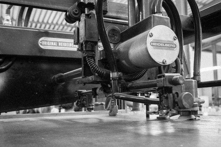 Black & White Industry Heidelberger Machinery Monochrome Offset Printing Printing Press Technology