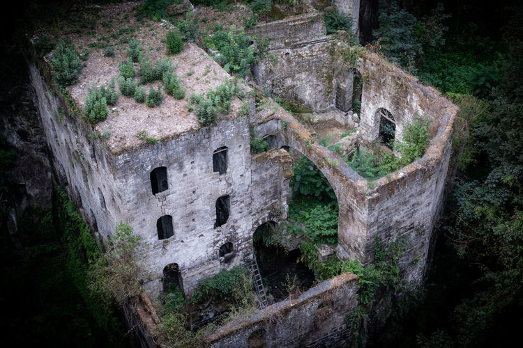 Old ruins of historic building