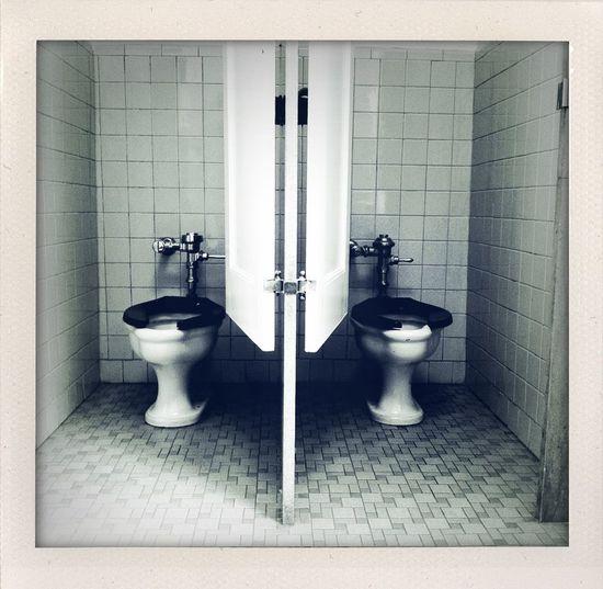 Twin toilets in