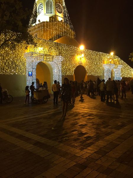 Large Group Of People Night Illuminated Real People Women Lifestyles Leisure Activity