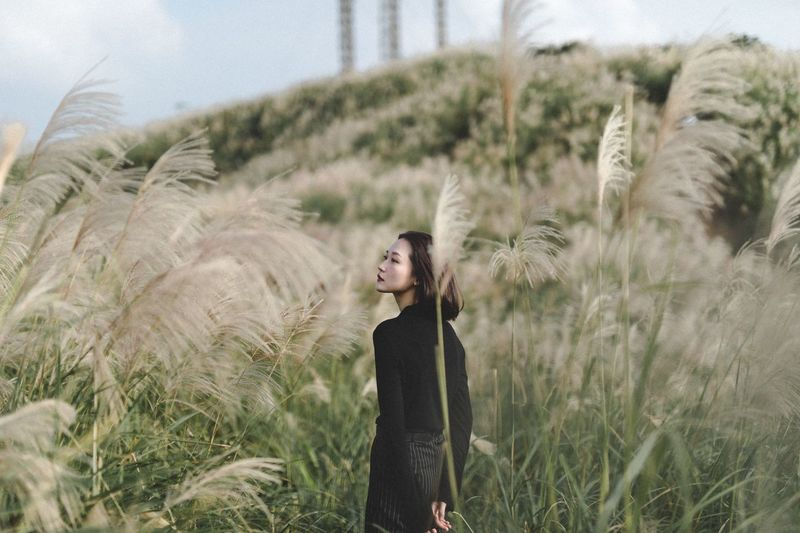 One Person Plant Young Adult Land Young Women Lifestyles Real People Nature Leisure Activity Field Growth Standing Women Hairstyle Adult Environment Three Quarter Length Front View Day Outdoors The Week On EyeEm Editor's Picks
