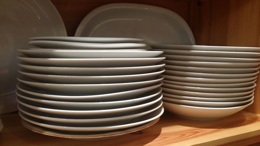 White Plates Home Selection Eating Day Close-up Indoors  No People Ordinary  Simple Domestic Life Cupboard In Order Large Group Of Objects Arrangement