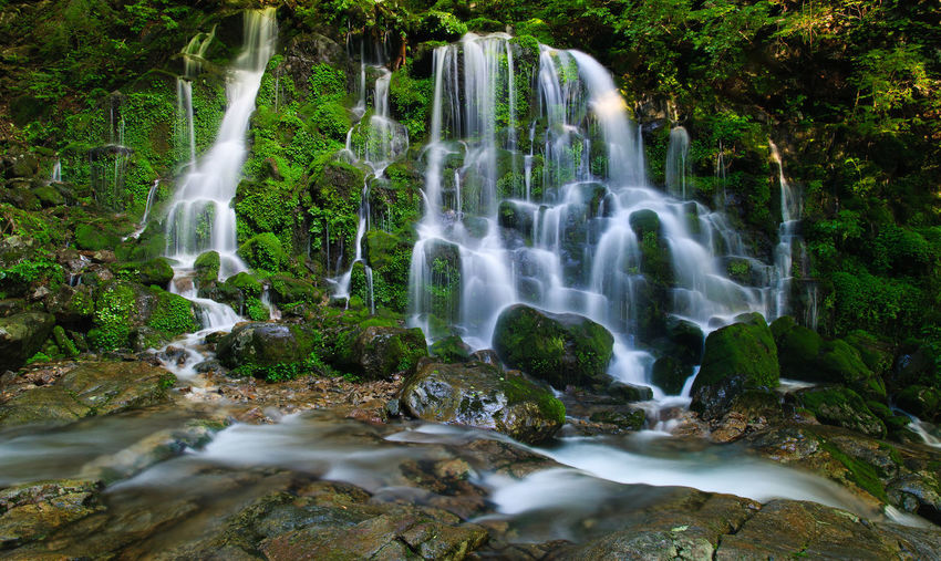 Beauty In Nature Long Exposure Nature No People Outdoors Rock - Object Scenics Water Waterfall