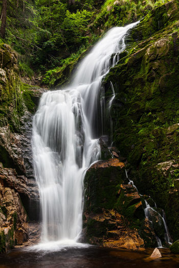 Kamienczyk Waterfall. Sudetes. Poland Kamieńczyk Waterfall Karkonoski Park Narodowy Karkonosze Sudety Beauty In Nature Blurred Motion Day Forest Kamieńczyk Waterfall Karkonski Park Long Exposure Motion Nature No People Outdoors Scenics Sudetes Travel Destinations Tree Water Waterfall