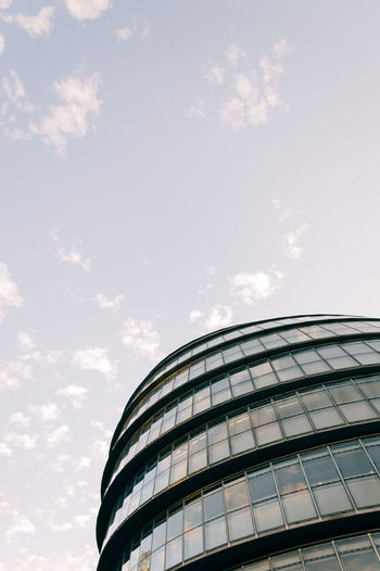 Modern office building. Low angle view Architecture Brexit Building Building Exterior Building Feature Built Structure Business City Cloud - Sky Corporate Day Dome Government Building London Low Angle View Modern No People Outdoors Sky Tourism Travel Travel Destinations Vertical