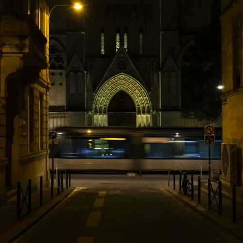 nightscene in Bordeaux Architecture Night Illuminated Built Structure Building Exterior Place Of Worship Religion Belief City Spirituality Street Arch Travel Destinations Building Transportation Motion Street Light Travel No People Bordeaux Nightphotography Tram Church Cathedral Nightscape cityscapes The Street Photographer - 2019 EyeEm Awards