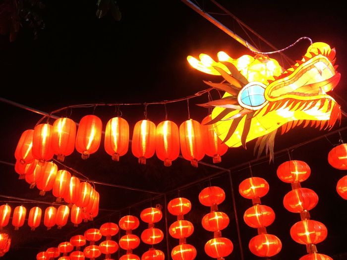 Chinese Lanterns Hanging From Ceiling