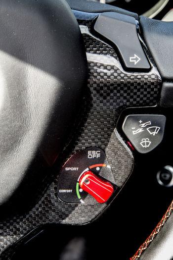 Car Interior Convertible Ferrari California T HS Luxury Sportscar Steering Wheel Suspension Button Vehicle Interior