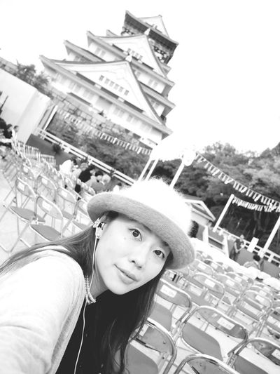 Taking Photos 大阪城 Lumix Black And White Selfportrait
