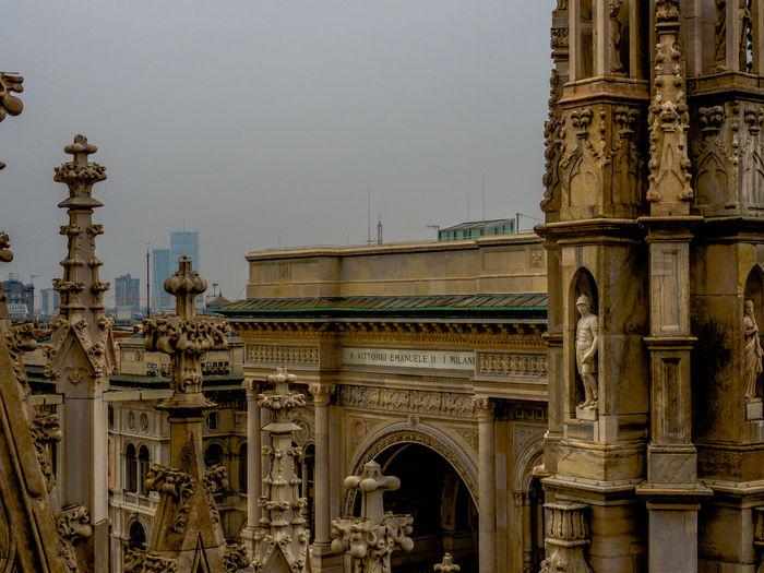 Galleria Vittorio Emanuele Ii Against Sky In City